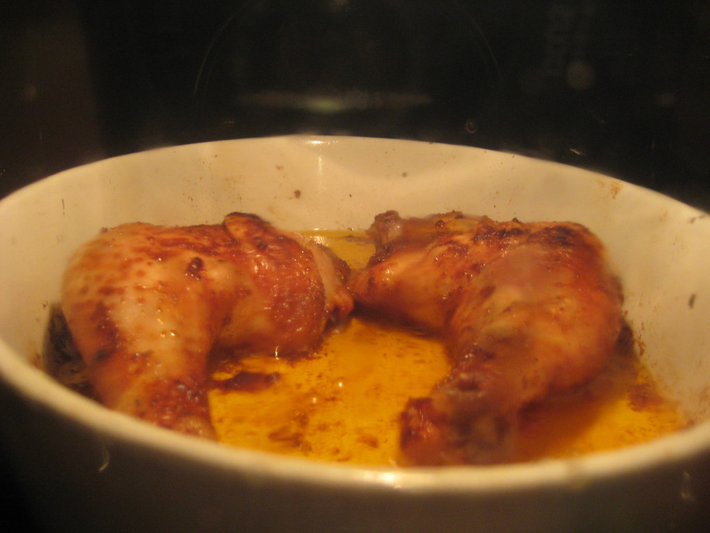 Hähnchenschenkel im Ofen