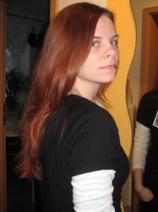 Haare vor dem Schnitt