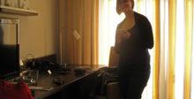 Sarah in unserem Hotelzimmer