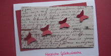 Geburtstagskarte mit Schmetterlingen