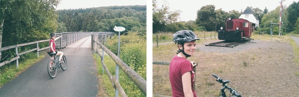 Mit dem Fahrrad über das Viadukt