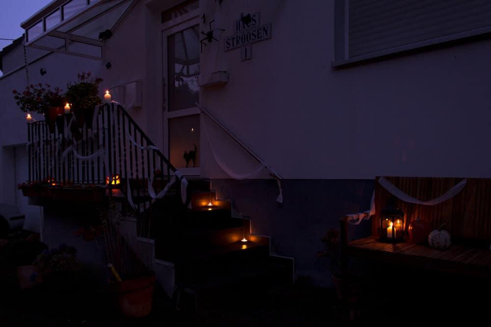 Halloween Dekoration im Dunkeln