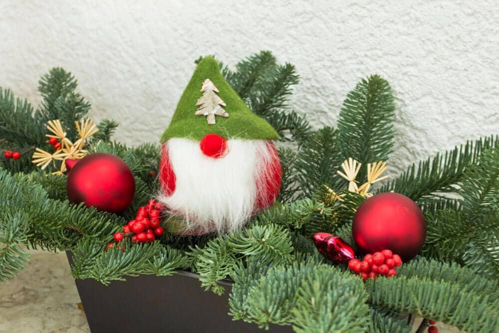 Weihnachtsdeko - Brotbackform-Gesteck