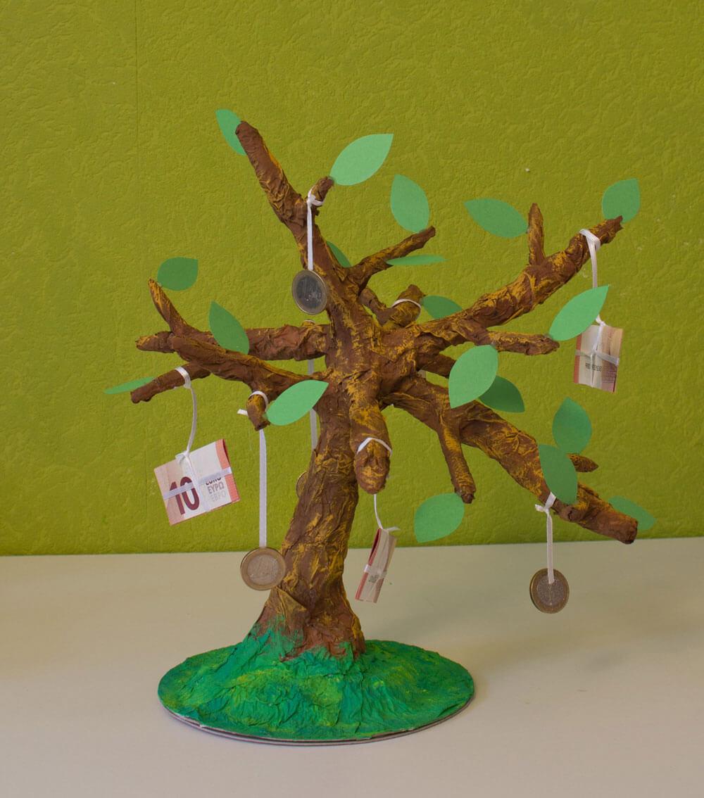 Wir Basteln Einen Geldbaum Chrico