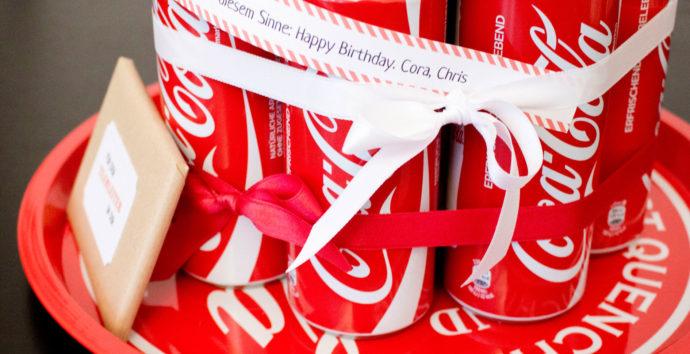 Geschenk für Cola Fan | Coca Cola Torte